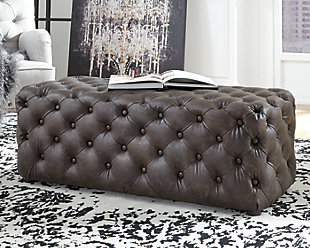 Lister Accent Ottoman, Brown, rollover
