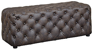 Lister Accent Ottoman, Brown, large