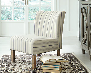 Triptis Accent Chair, Cream/Blue, rollover