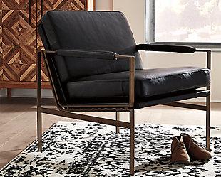 Puckman Accent Chair, Black, rollover
