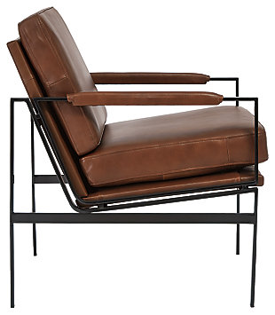 Puckman Accent Chair, Brown/Silver Finish, large