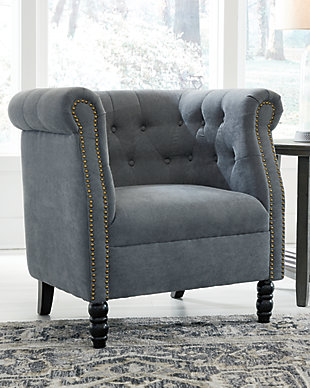 Jacquelyne Accent Chair, Slate Blue, rollover