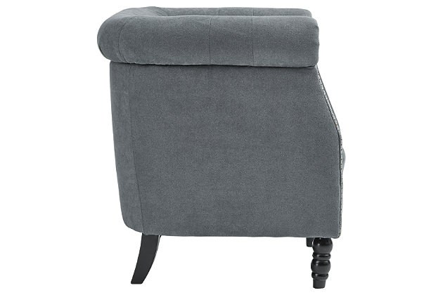 Jacquelyne Accent Chair, Slate Blue, large