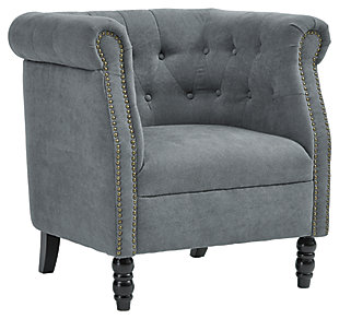 Jacquelyne Accent Chair, Slate Blue, large
