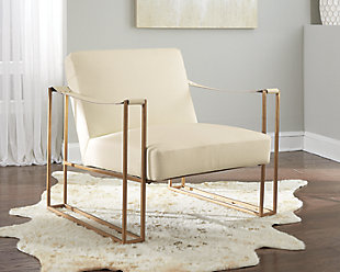 Kleemore Accent Chair, Cream, rollover