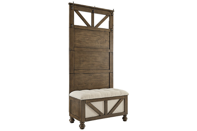 Brickwell Hall Tree with Storage Bench, , large