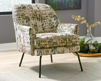 Dericka Accent Chair, Beige/Green, large