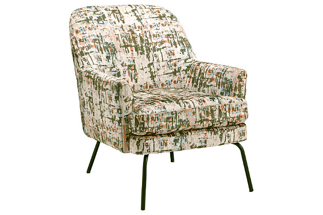 Dericka Accent Chair, Beige/Green, large