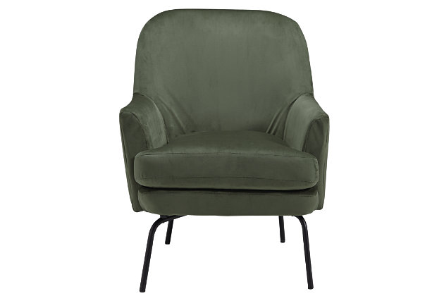Dericka Accent Chair, Moss, large
