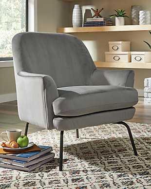 Dericka Accent Chair, Steel, rollover