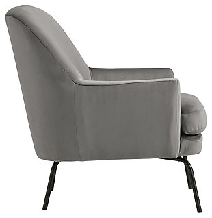 Dericka Accent Chair, Steel, large