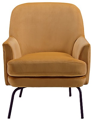 Dericka Accent Chair, Gold, large