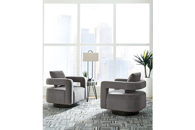 Alcoma Swivel Accent Chair, , large