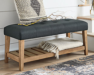 Cabellero Upholstered Accent Bench, , rollover
