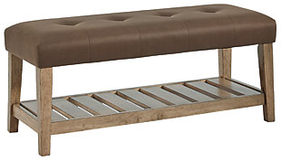 Cabellero Upholstered Accent Bench, , large
