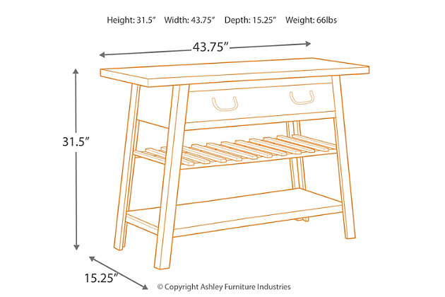 Camp Ridge Sofa/Console Table, , large