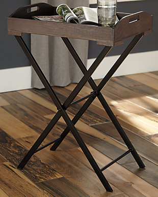 Cadocridge Accent Table, Gray/Black, rollover