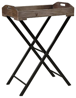 Cadocridge Accent Table, Gray/Black, large
