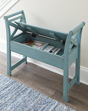 Heron Ridge Accent Bench, Blue, rollover