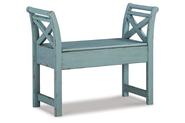 Heron Ridge Accent Bench, Blue, large