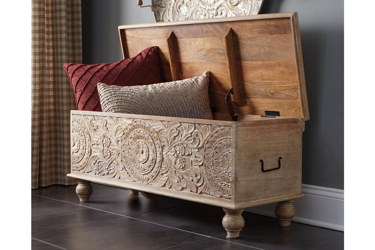 Amazing Fossil Ridge Storage Bench Ashley Furniture Homestore Dailytribune Chair Design For Home Dailytribuneorg