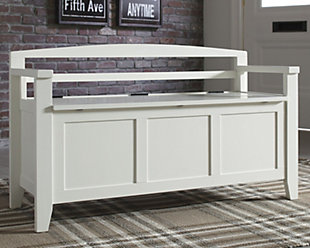 Charvanna Storage Bench, White, rollover