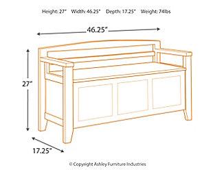 Charvanna Storage Bench, White, large