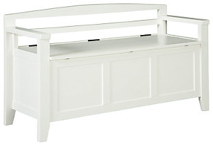 Charvanna Storage Bench, White, large