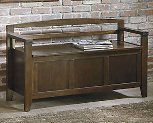 Charvanna Storage Bench, Dark Brown, large