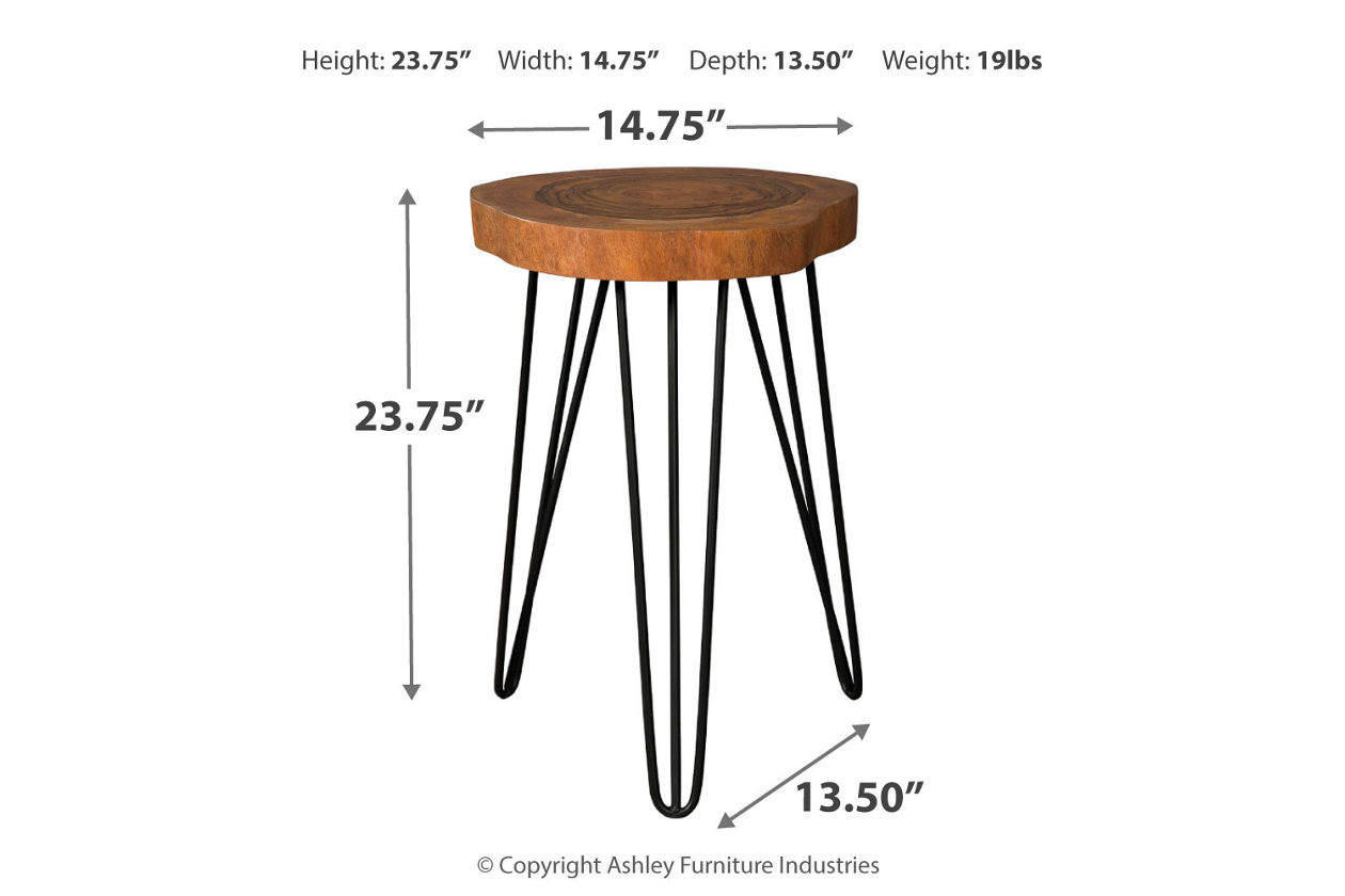 Groovy Eversboro Accent Table Ashley Furniture Homestore Lamtechconsult Wood Chair Design Ideas Lamtechconsultcom