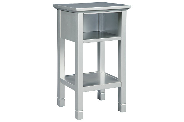 Marnville Accent Table, Silver Finish, large