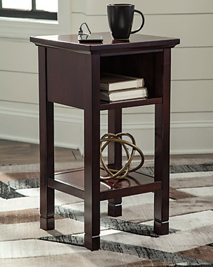 Marnville Accent Table, Reddish Brown, rollover