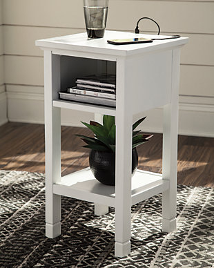Marnville Accent Table, White, large