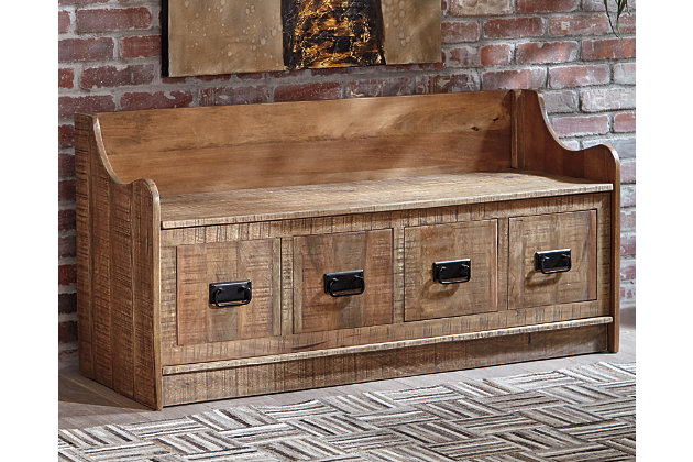 Awesome Garrettville Storage Bench Ashley Furniture Homestore Gmtry Best Dining Table And Chair Ideas Images Gmtryco