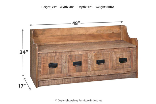 Super Garrettville Storage Bench Ashley Furniture Homestore Lamtechconsult Wood Chair Design Ideas Lamtechconsultcom