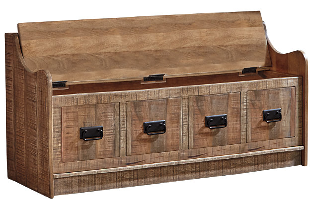 Cool Garrettville Storage Bench Ashley Furniture Homestore Lamtechconsult Wood Chair Design Ideas Lamtechconsultcom