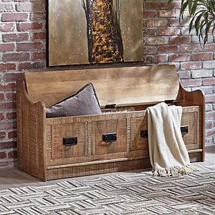 Garrettville Storage Bench, , large