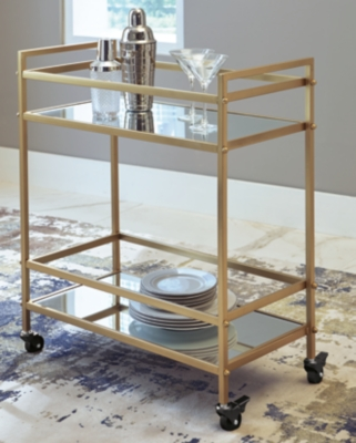 Kailman Bar Cart Ashley Furniture Homestore