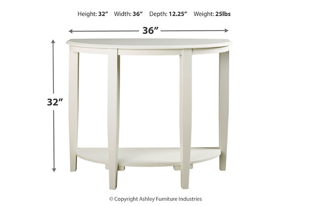 Altonwood Sofa/Console Table, White, large