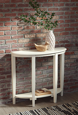 Altonwood Sofa/Console Table, White, rollover