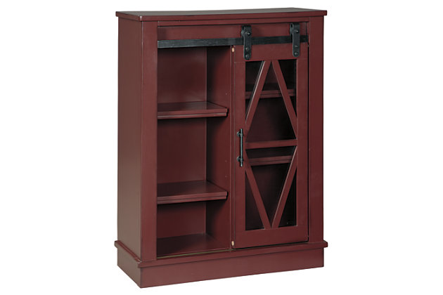Bronfield Accent Cabinet, Red, large