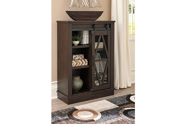 Bronfield Accent Cabinet, Brown, large