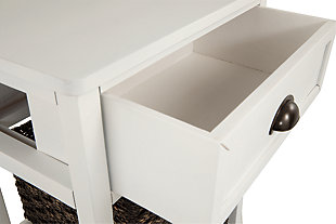 Oslember Accent Table, White, large