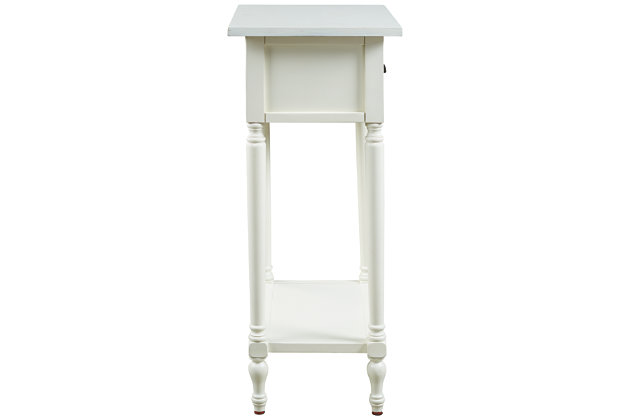 Juinville Accent Table, White, large