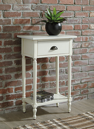 Juinville Accent Table, White, rollover