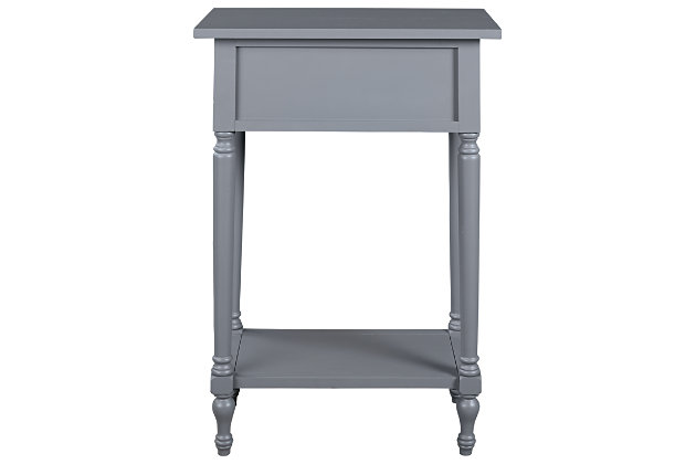Juinville Accent Table, Gray, large