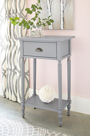 Juinville Accent Table, Gray, rollover