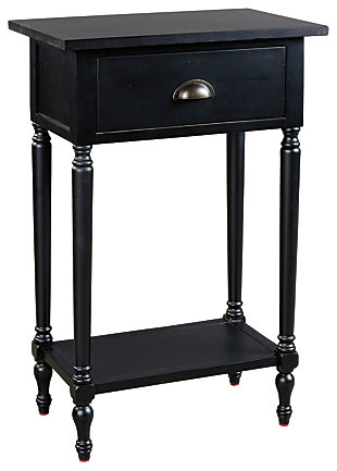 Juinville Accent Table, Black, large