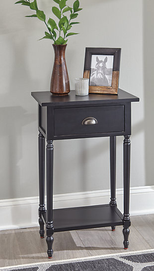 Juinville Accent Table, Black, rollover