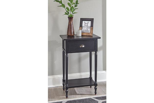 Juinville Accent Table, Black, large